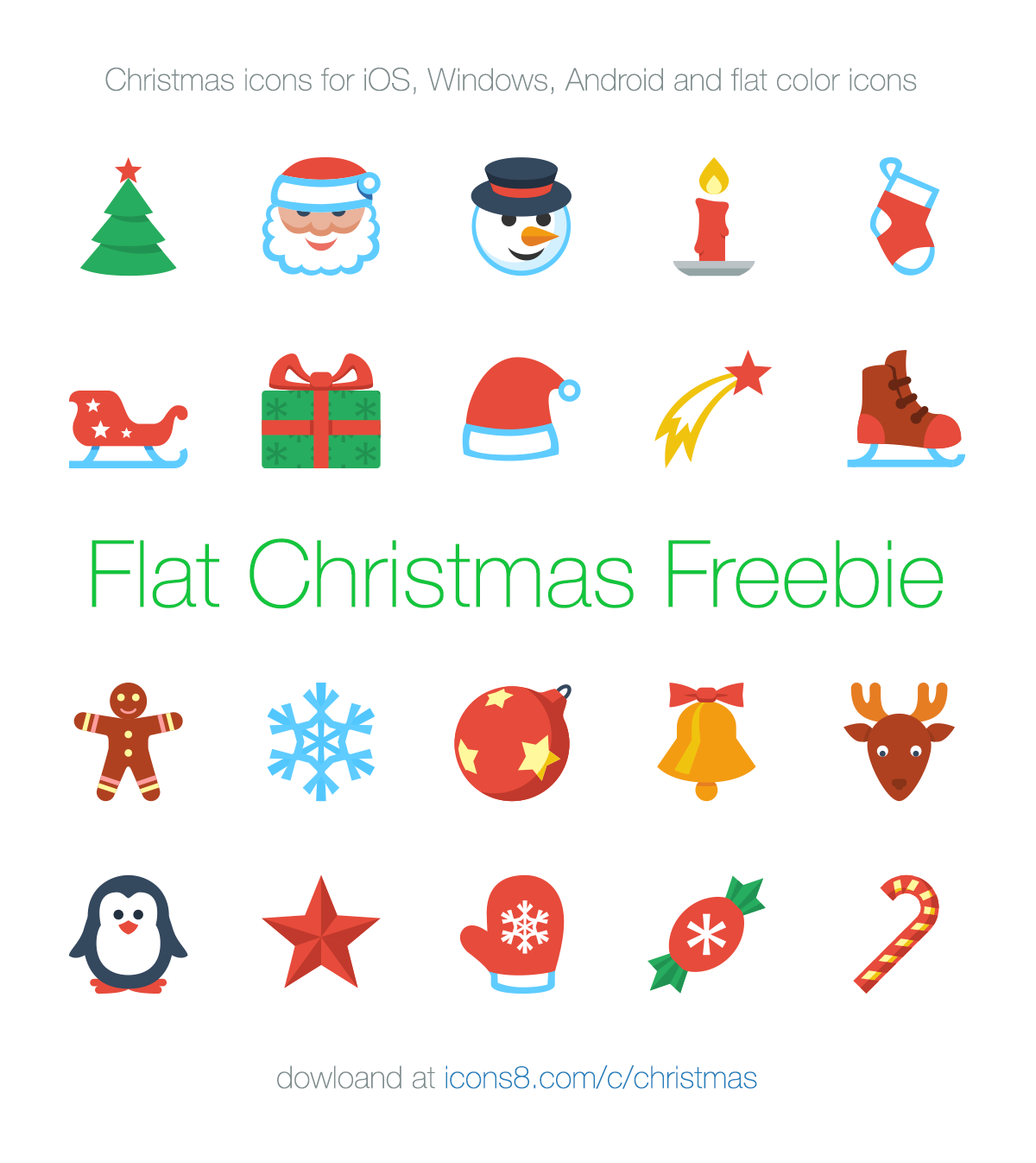 Ultimate Christmas icons for iOS, Windows, Android and