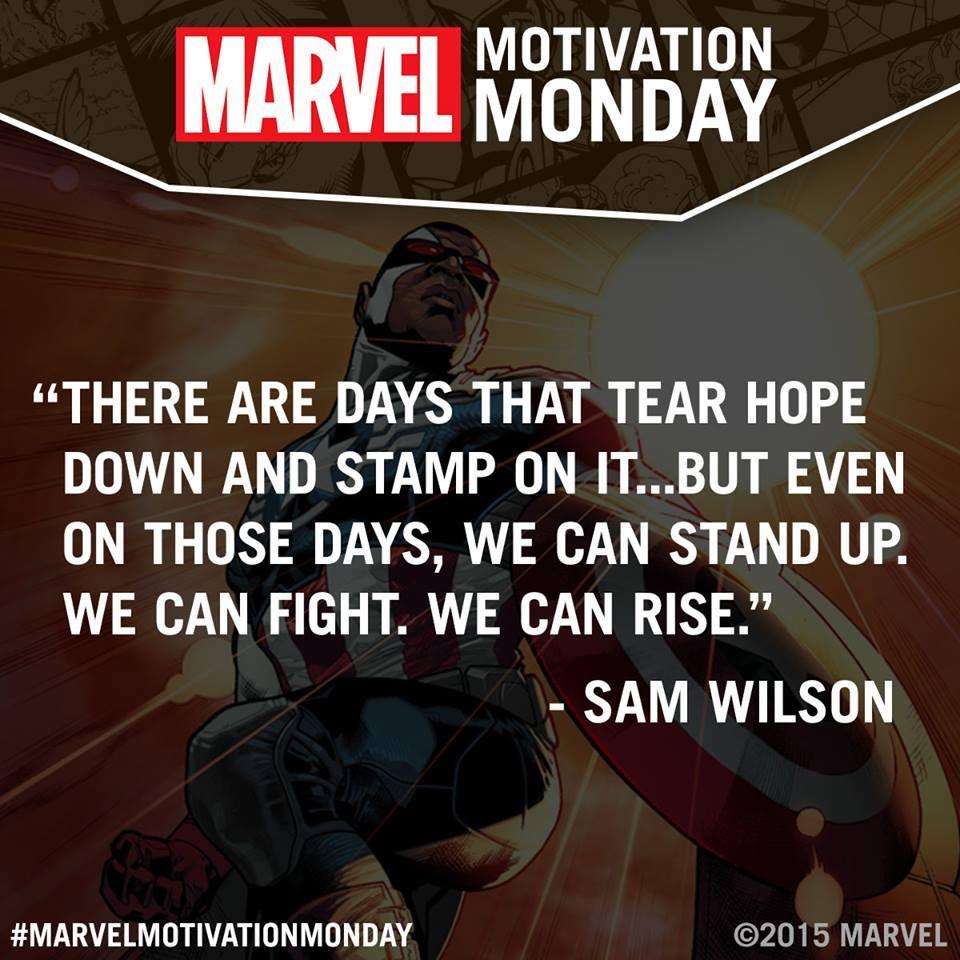 marvel motivation mondaysam wilsondays that tear hope