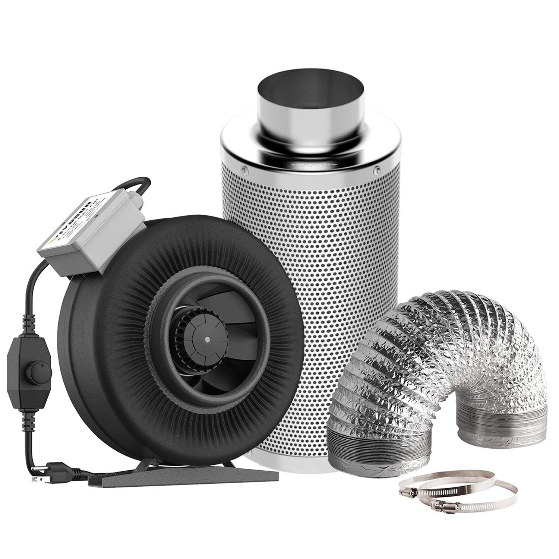 VIVOSUN 6 Inch 440 CFM Inline Fan with Speed