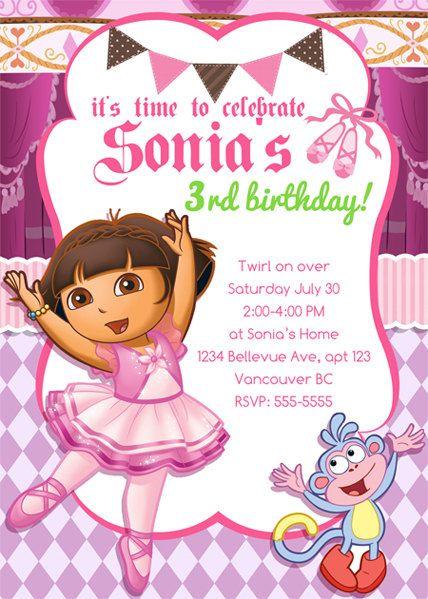 Dora The Explorer Birthday Invitations By Berryliciousdesign