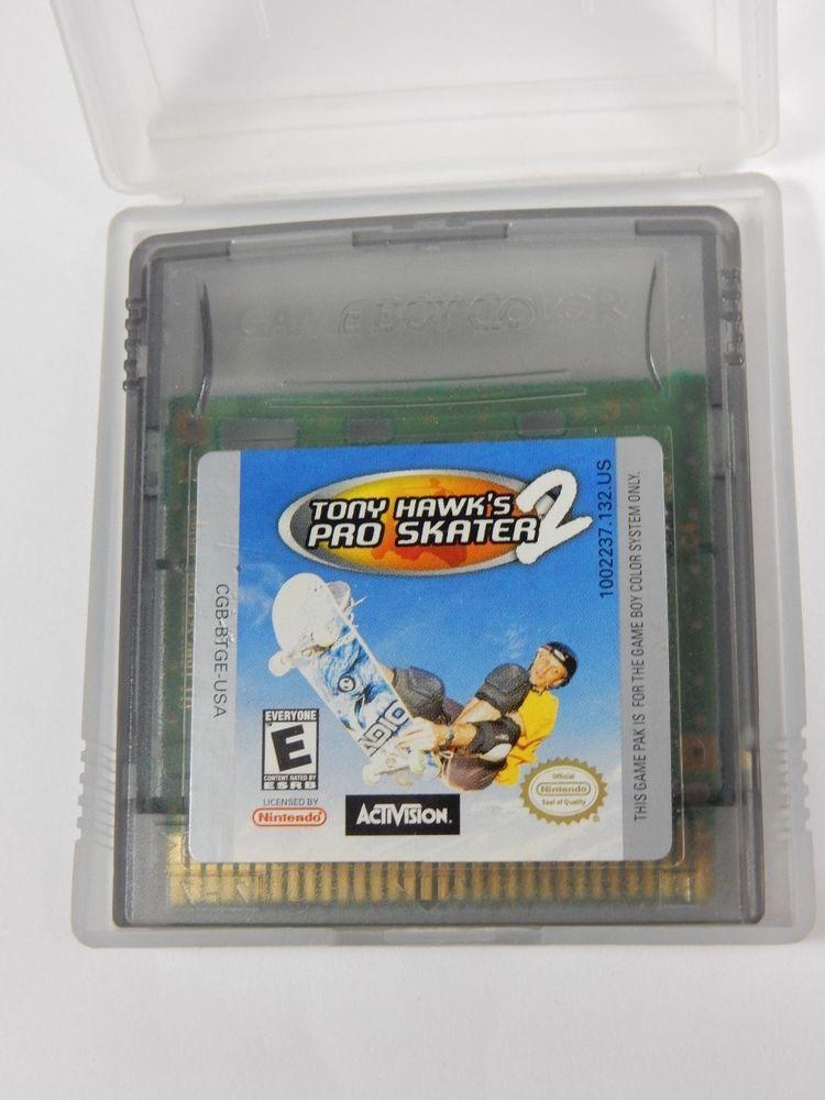 Tony Hawk S Pro Skater 2 Nintendo Game Boy Color 2000 Cartridge Only Tony Hawk Pro Skater Pro Skaters Color Games