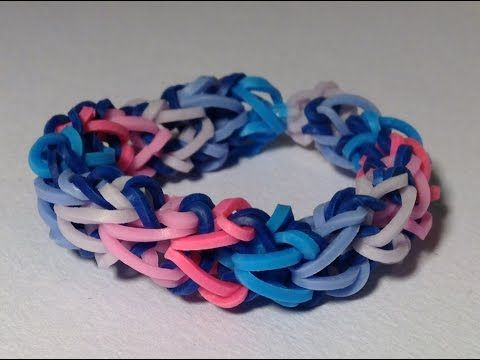 Rainbow loom Nederlands, Dragon bone armband - YouTube