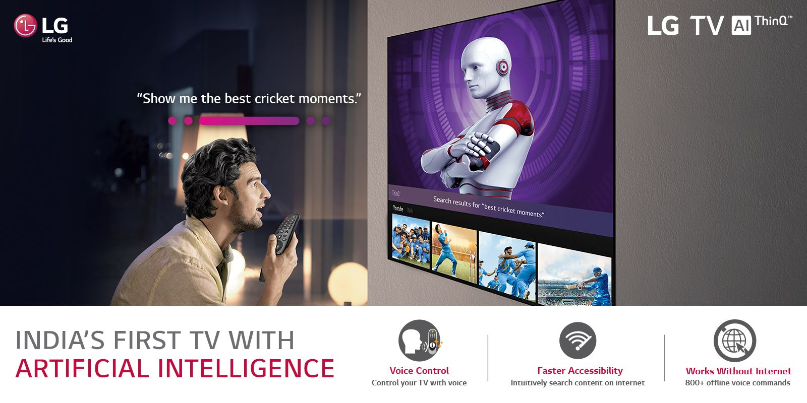 Introducing India's first TV with Artificial Intelligence
