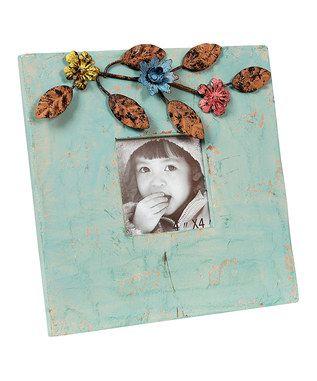 Shabby Chic: Teal Floral Frame   Zulily