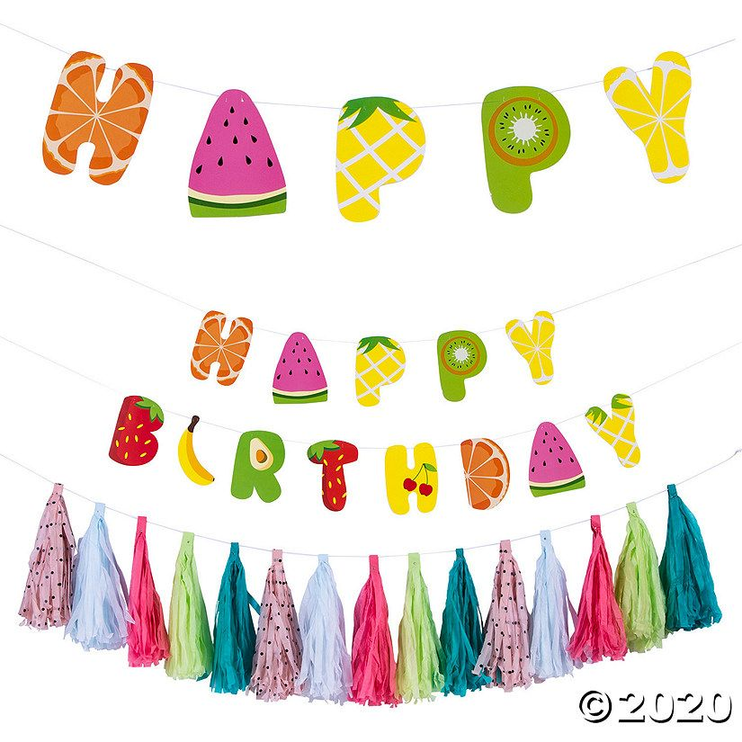 Planning a birthday party? Add this Tutti Frutti Garland Set to your party decorations for a sweet touch! Part of our Tutti Frutti party theme, there is one ...