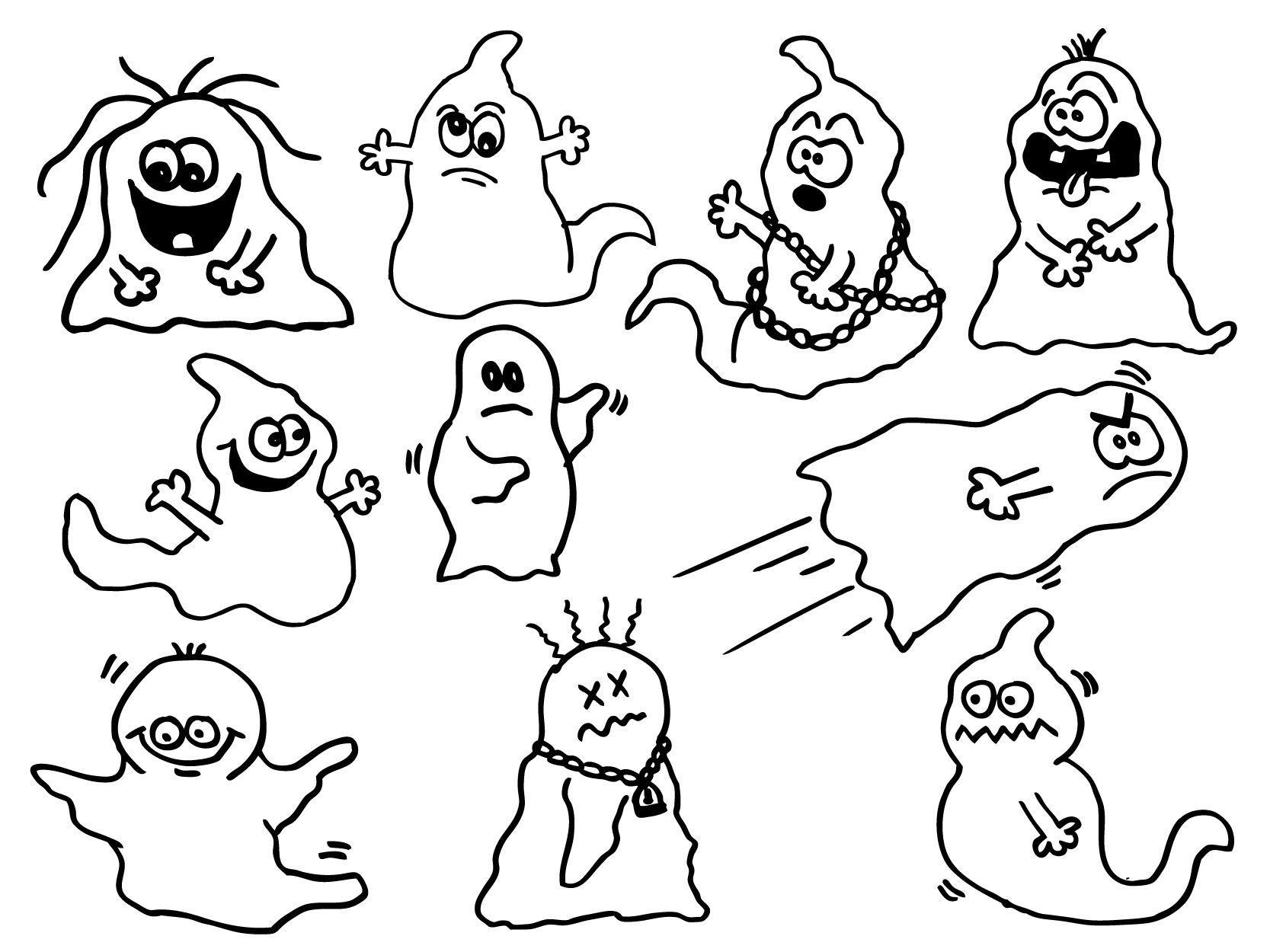 Malvorlagen Geister