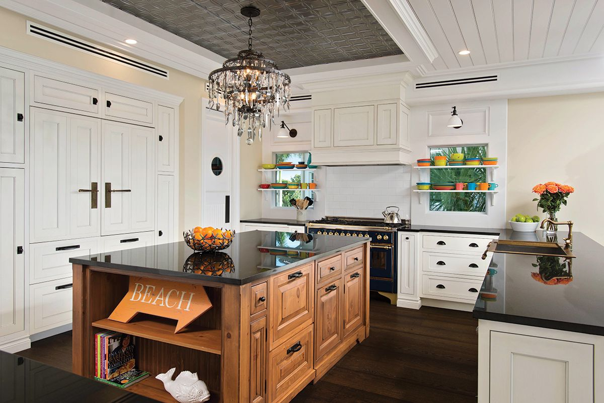 In the kitchen, custom cabinetry by Naples Kitchen & Bath ...