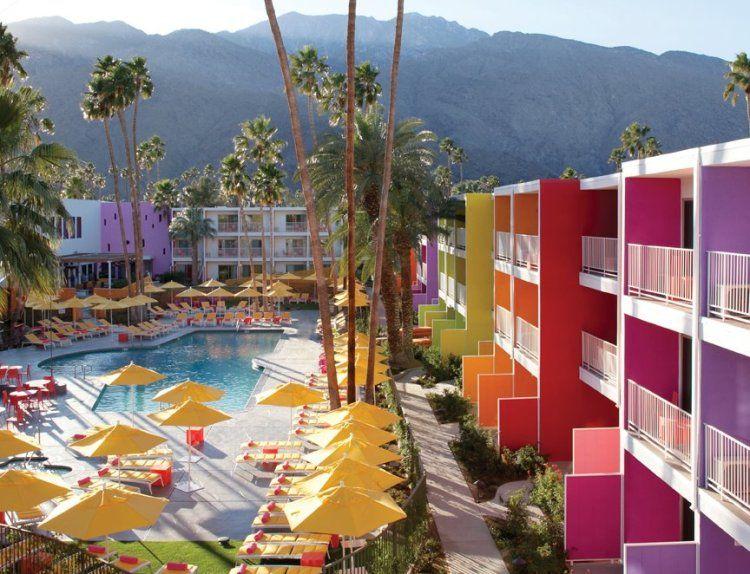 Saguaro hotel in Palm Springs #rainbow