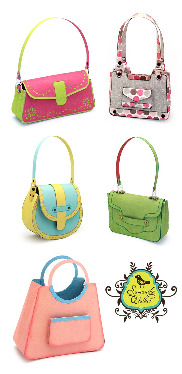 Silhouette Assembly Instructions for Purses | Pinterest | Paper ...