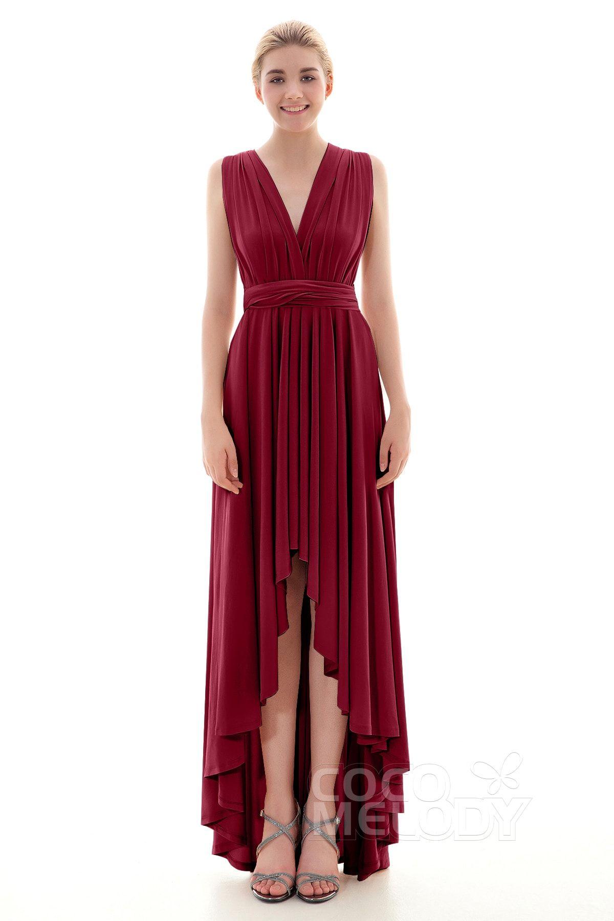Knitted wedding dress  Timeless Asymmetrical Natural HighLow Knitted Fabric Sleeveless
