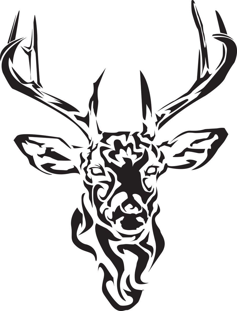 Celtic tribal deer ink pinterest celtic tribal for Celtic skull tattoo