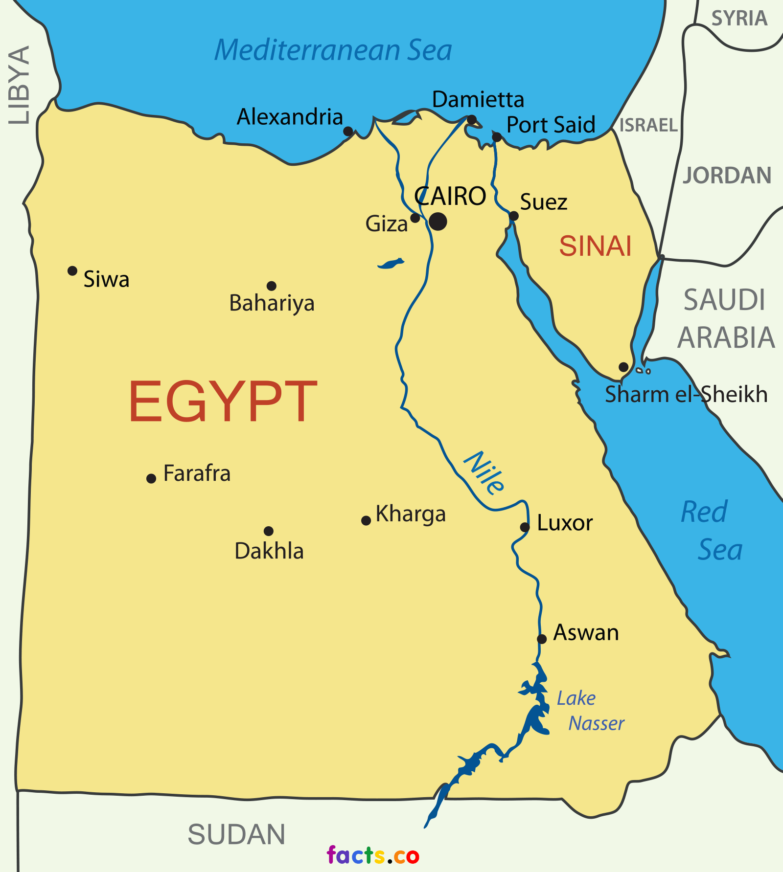Egypt Map - Political Egypt map outline/blank | Egypto | Pinterest ...