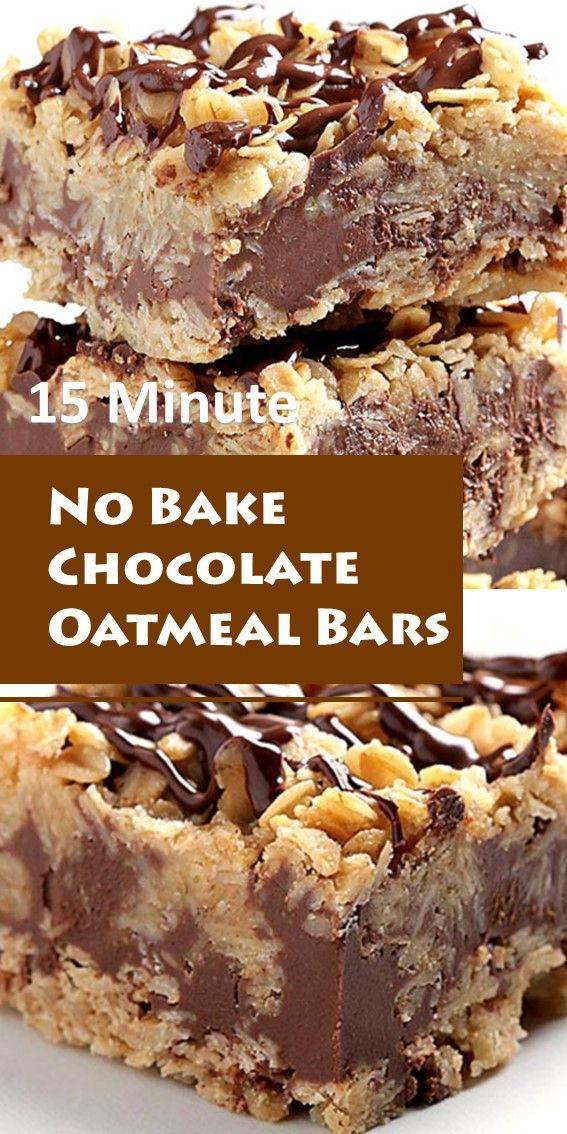 No Bake Chocolate Oatmeal Bars