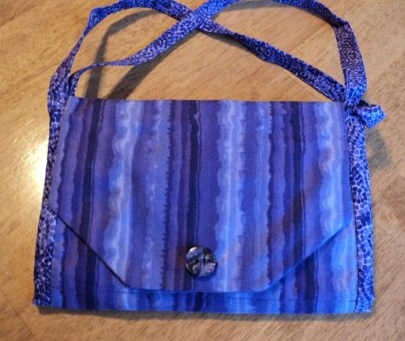 Organizer purse / wallet shades of purple by LindaHansonDesigns
