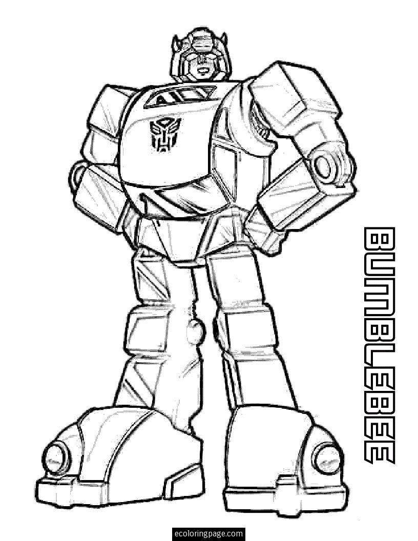 Transformers Bumblebee Coloring Pages Printable Bee Coloring