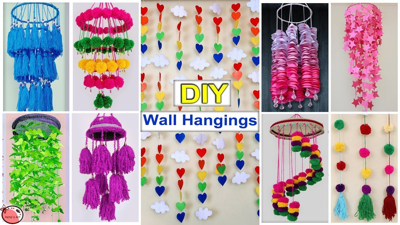 10 Diy Room Decor Easy Wall Hanging Craft Ideas At Home Wall Hanging Crafts Diy Wall Hanging Crafts Wall Hanging Diy