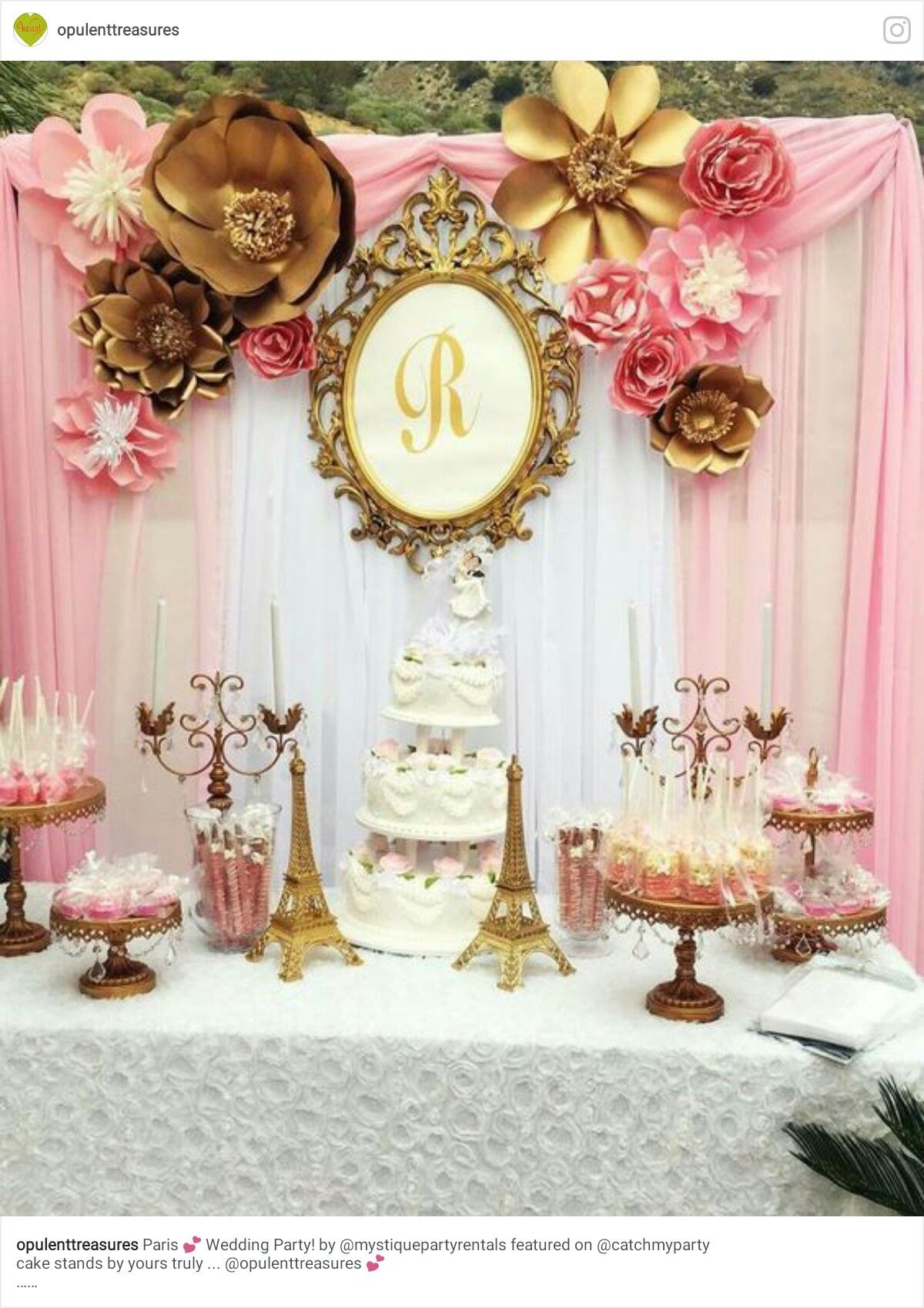 Pin by yonnie smith on birthdays anniversaries party ideas gorgeous pink and gold paris themed wedding party see more party ideas at junglespirit Gallery