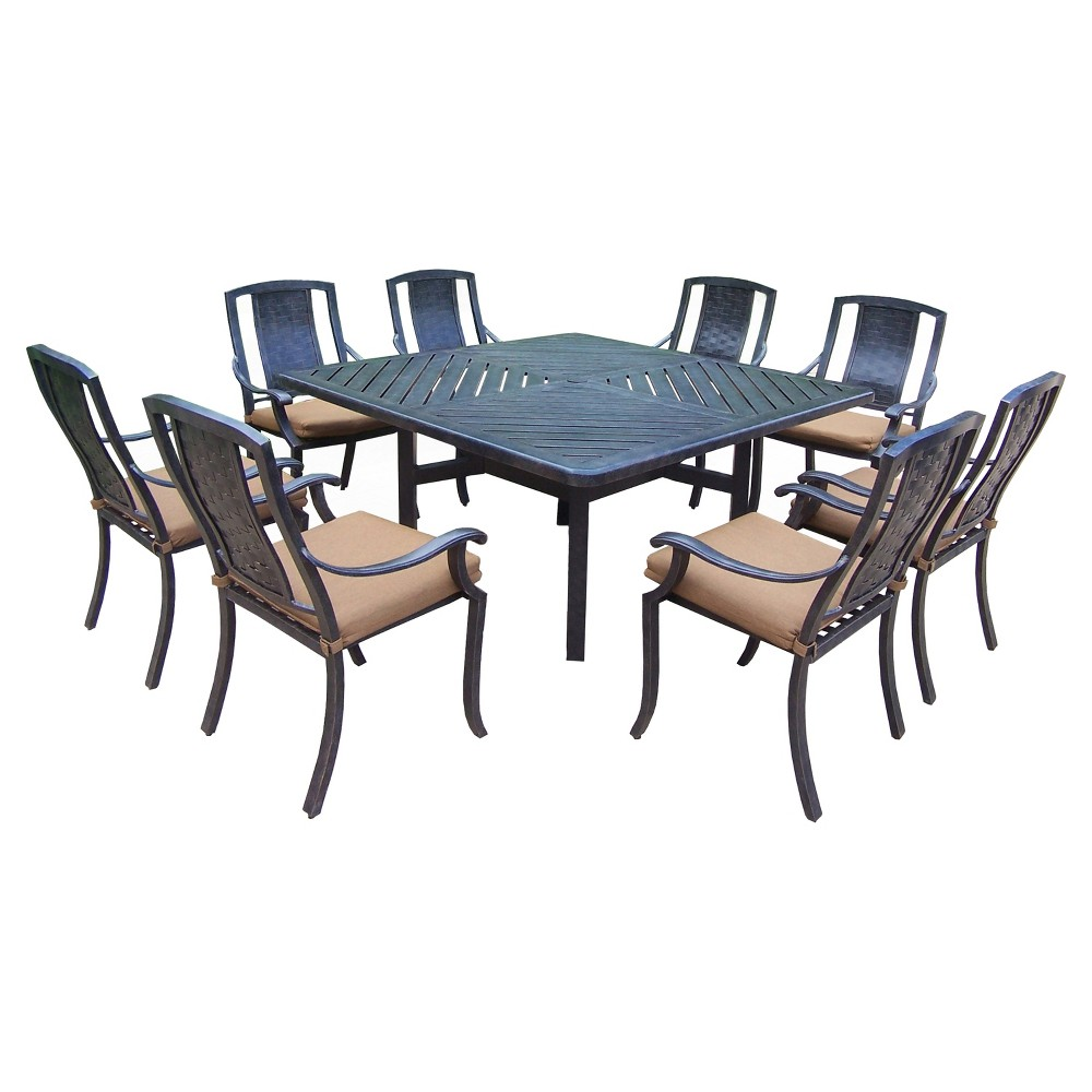 Outdoor Furniture Dining Set Sale Vanguard 9 Piece Aluminum Stationary Square Patio Dining Furniture