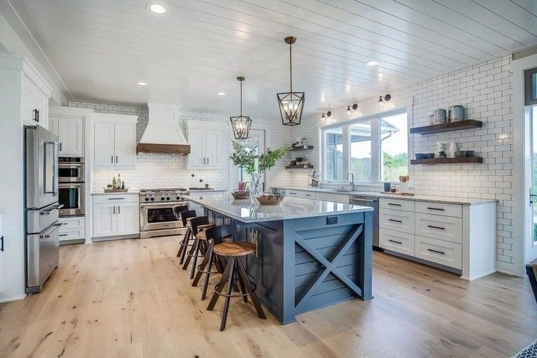 35+ Stunning Modern Farmhouse Kitchen Design Ideas To Renew Your Home