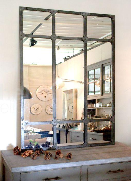 Beau Miroir Metal Industriel Heron House En 2019 Miroir