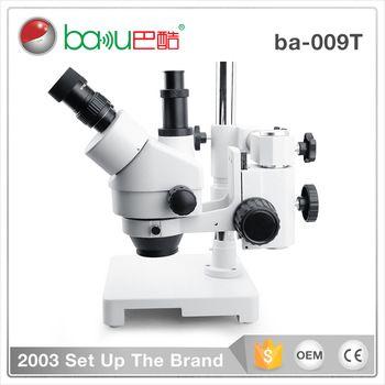 Baku Ba 009t Mini Adjustable Operating Stereo Digital Trinocular Microscope Stand With Camera Video Electronics Technology Microscope Electronics