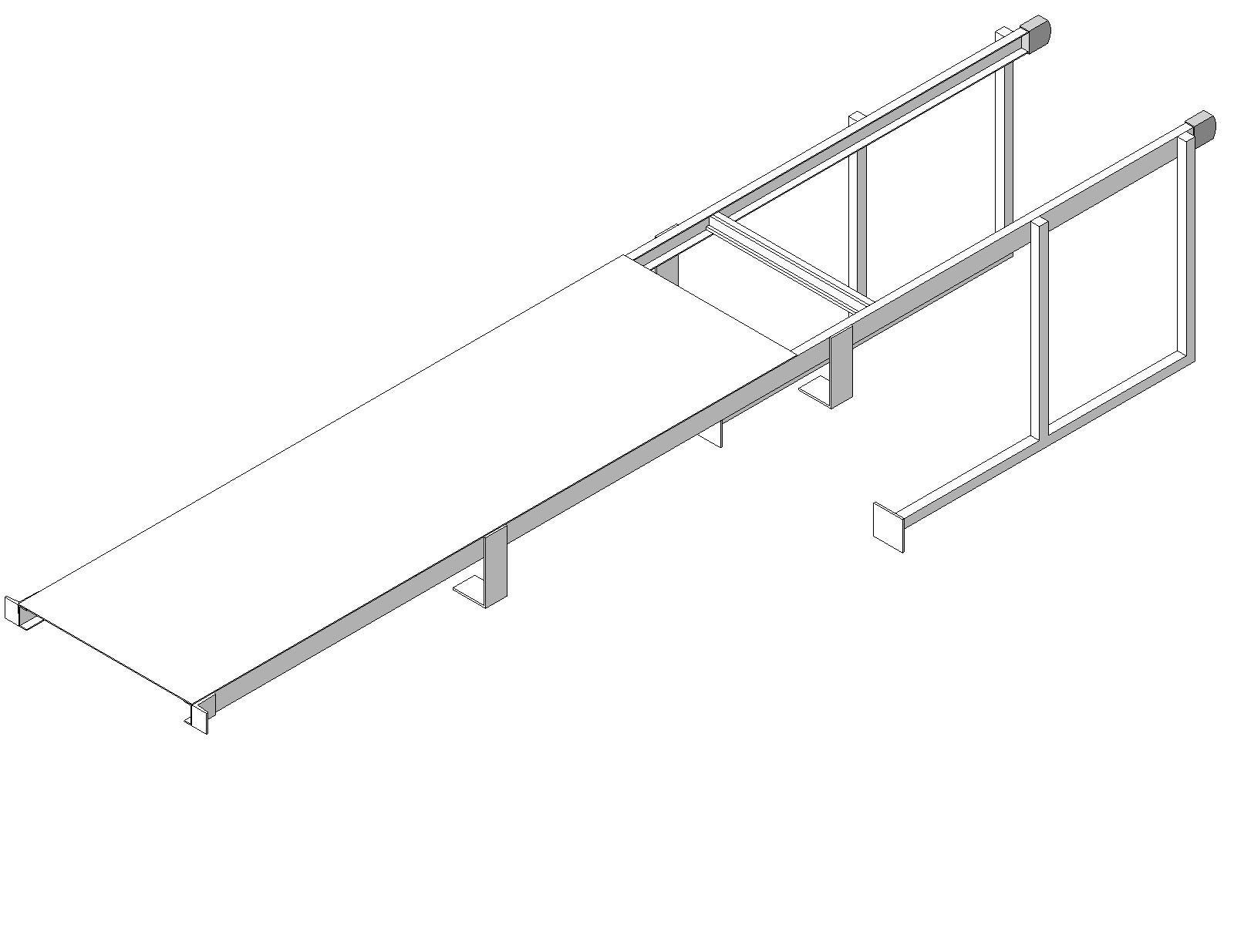 Precision Laddersfixed Ladder Walk Thru With Security Door Aluminium Ladder Security Door Ladder