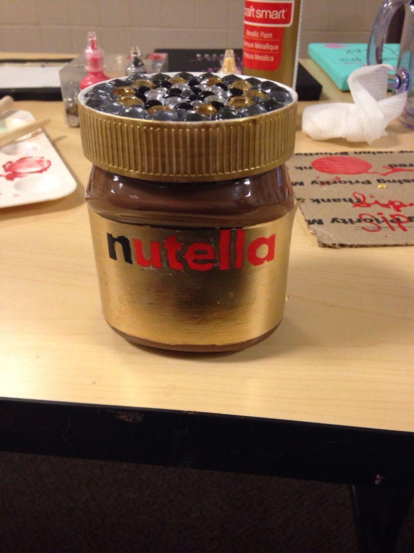 Nutella Craft Nutella Nutella Bottle Sorority Crafts