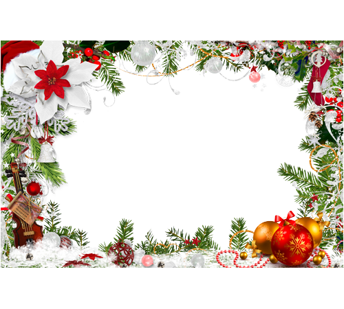 Ready for New year Christmas png frame Digital