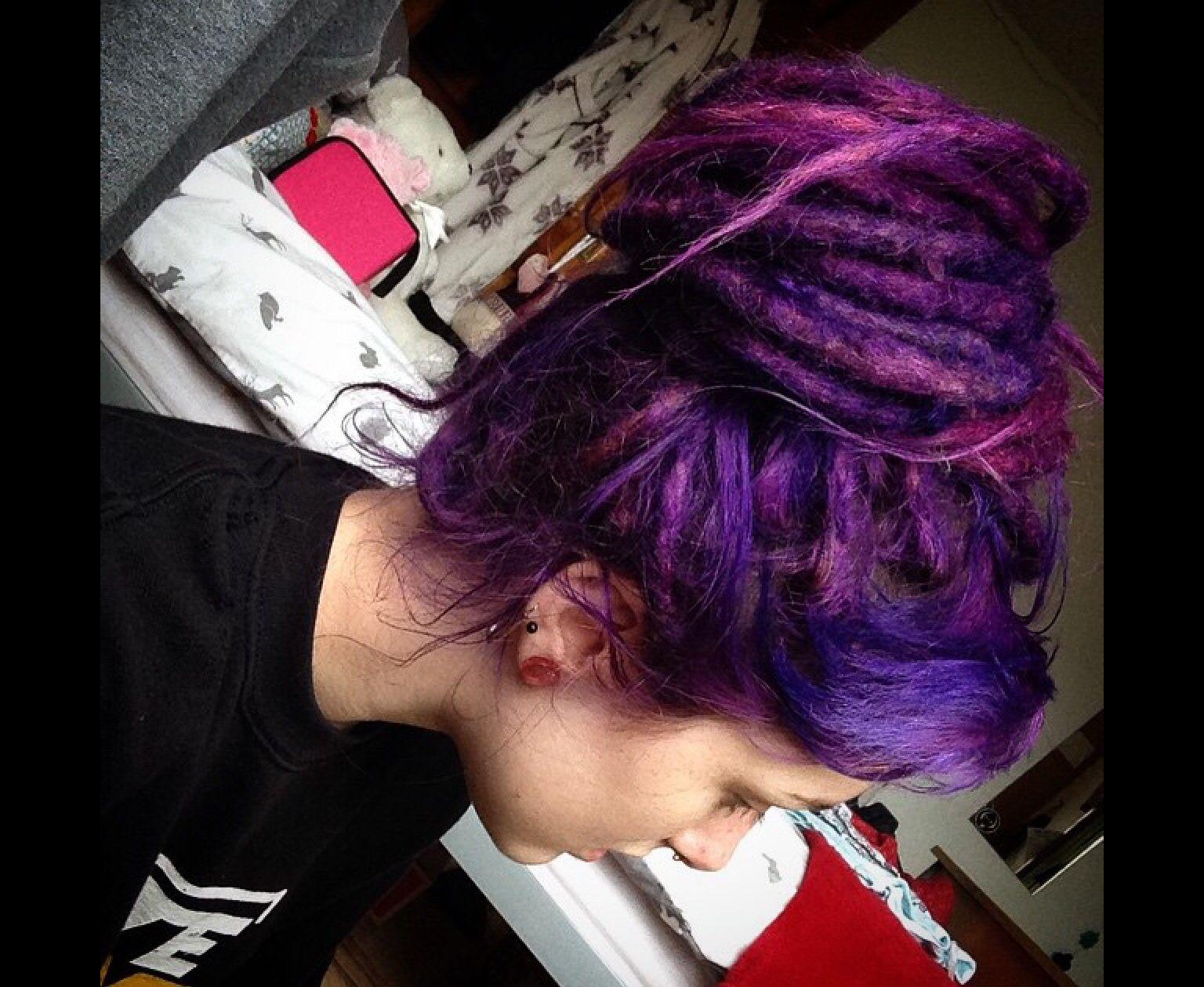 beautiful purple dreads