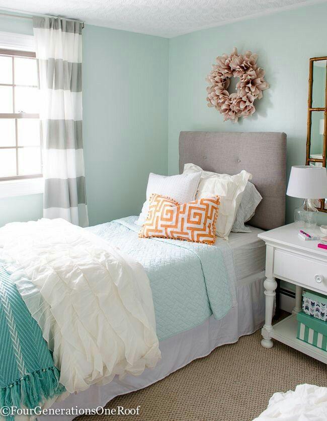 Grey Orange Teal  Teenage Girl Bedroom Paint  Pinterest  Teal Awesome Teenage Girl Bedroom Design Inspiration