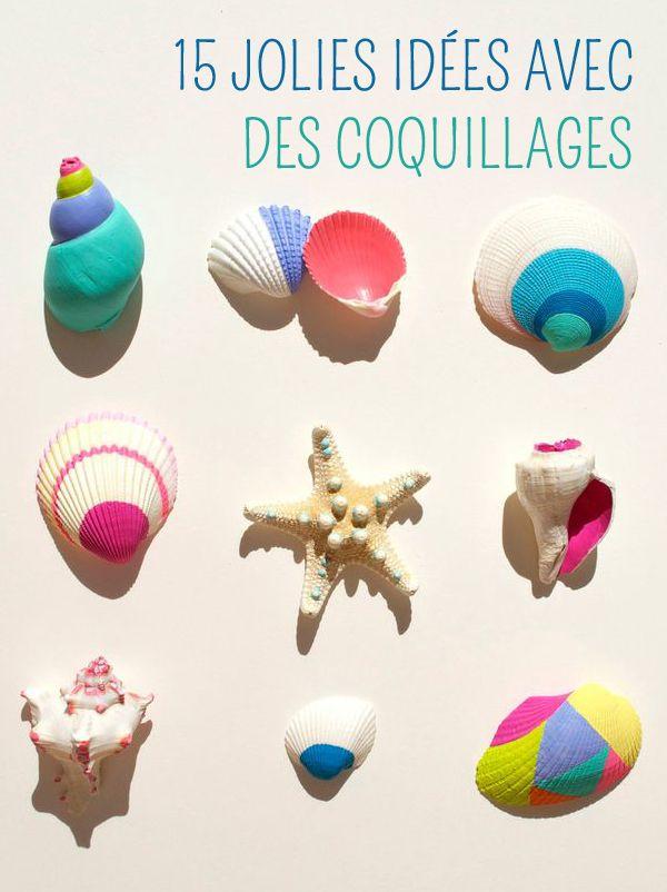 15 projets de bricolages pour enfants avec des coquillages. Black Bedroom Furniture Sets. Home Design Ideas