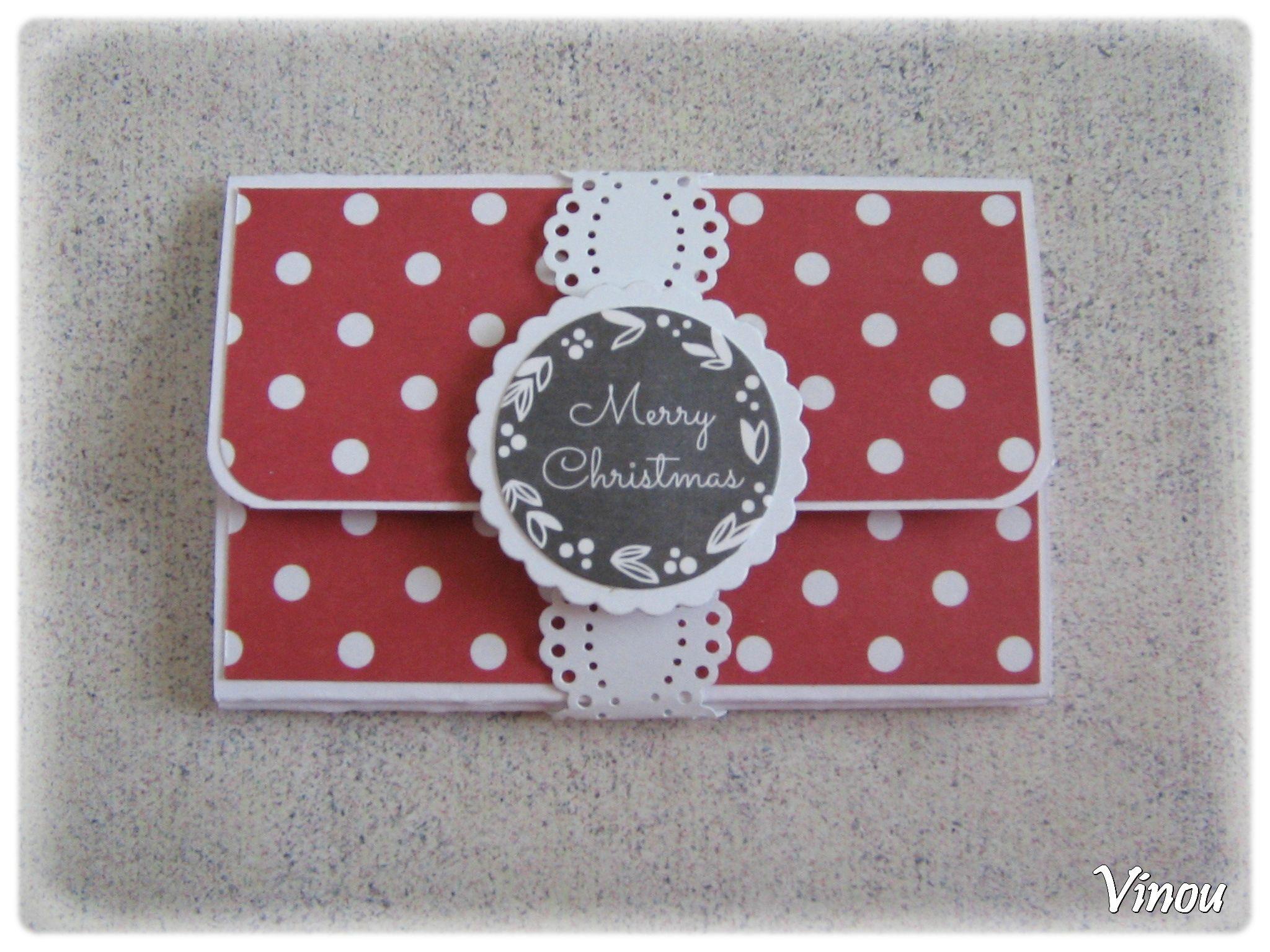 cartons noel jour 6 vinou creations scrapbooking pinterest carte noel pochette cadeau. Black Bedroom Furniture Sets. Home Design Ideas