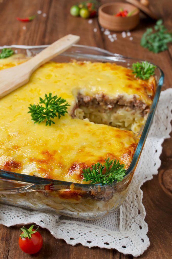 Gratin de pâtes à la viande hachée | Recette gratin de pates, Recettes de cuisine, Pâtés à la viande
