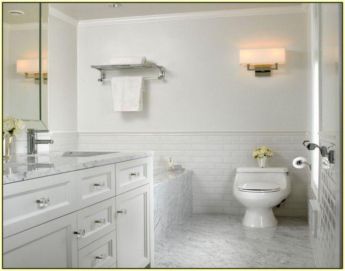 Carrara marble subway tile bathroom with best and marble - Bano marmol carrara ...