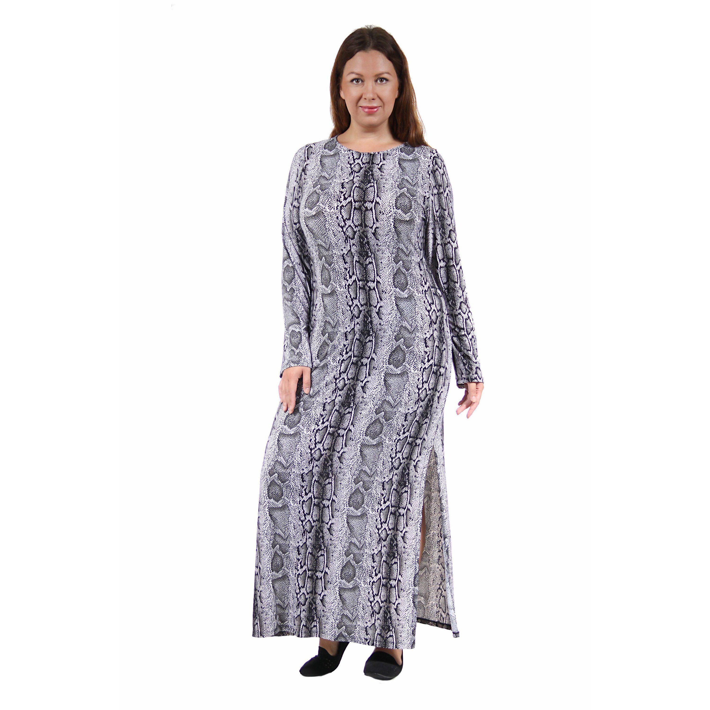 d1b0905a288 24 7 Comfort Apparel Women s Plus Size Snakeskin Maxi Dress