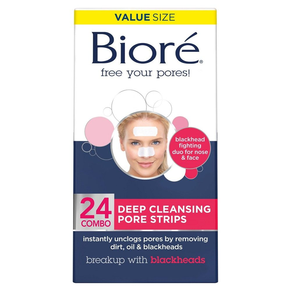 Biore Deep Cleansing Pore Strips 24ct Pore Strips Biore Pore