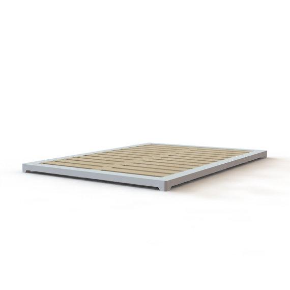 Ultra Low Profile Wooden Platform Bed Frame In Solid Maple Etsy Wooden Platform Bed Wooden Bed Frames Low Platform Bed
