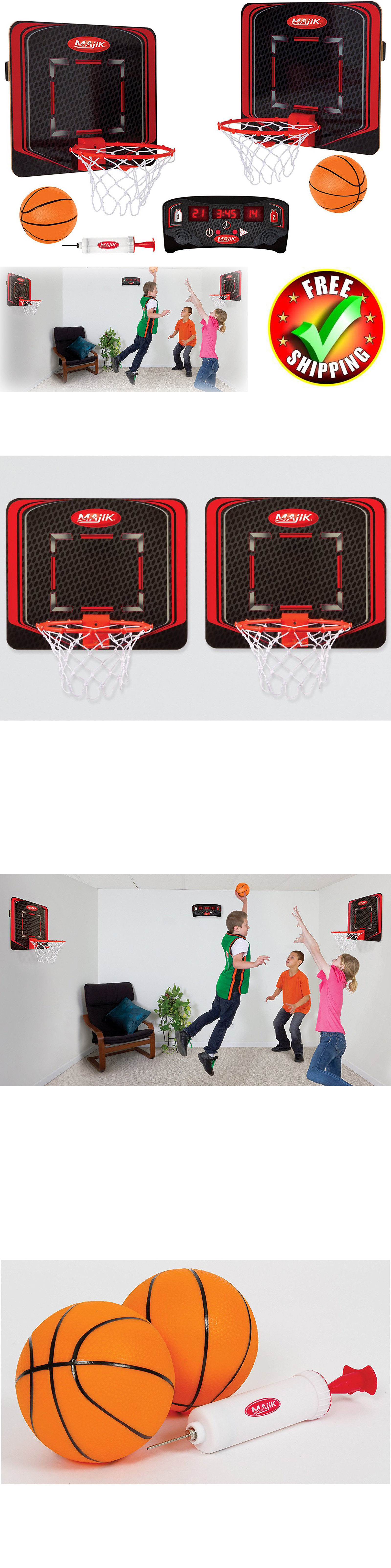 backboard systems 21196 indoor basketball game kid hoop training