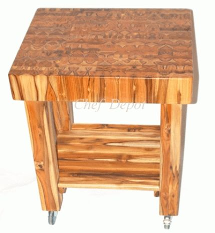 Butcher Block Table On Wheels