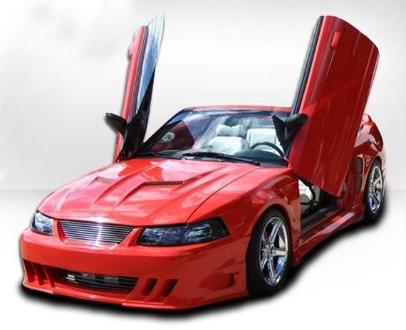 99 04 Mustang Demon 4pc Body Kit Front Rear Sides Urethane Body Kit Mustang Body
