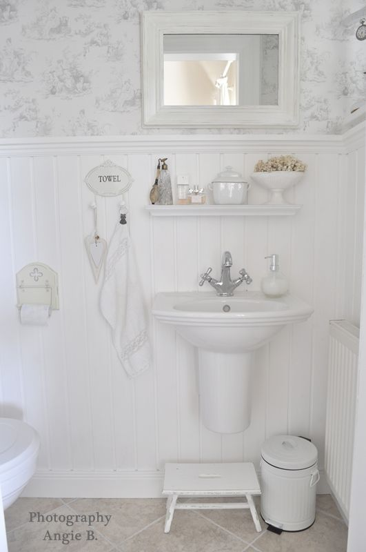 An All White Bathroom