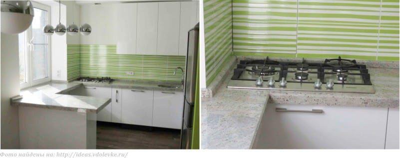 Дизайн подоконника на кухне – обеденный стол, рабочая зона, скамья ...