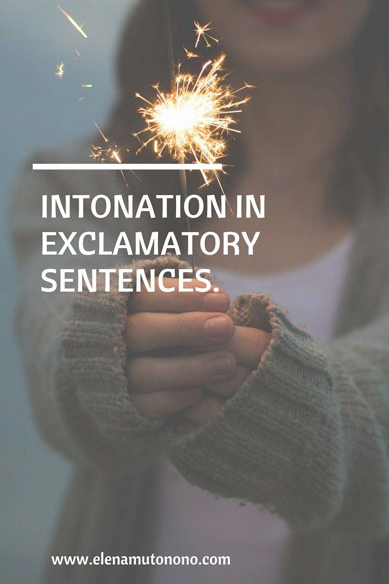 Exclamatory intonation in the english language english