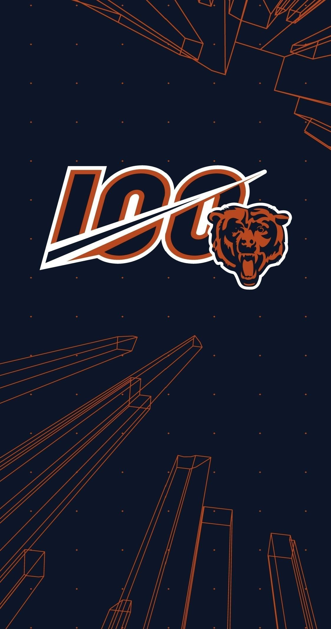 Chicago Bears 100 Anniversary Wallpaper Chicago Bears Wallpaper Chicago Bears Pictures Chicago Bears Logo