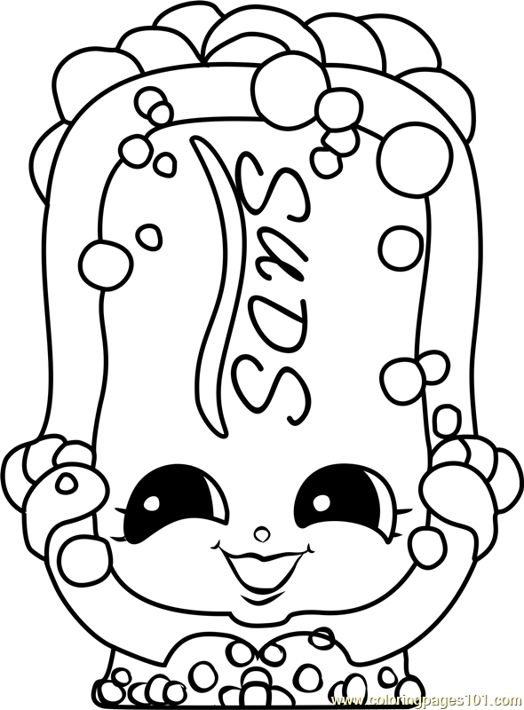 Suds Shopkins Coloring Page You Are In The Right Place About Shopkins Coloring Pages Toys Here We Off In 2020 Shopkins Colouring Pages Coloring Pages Coloring Books