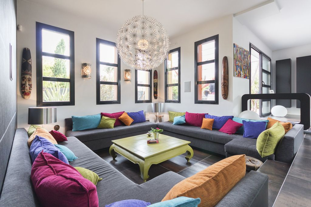 colorful apartment decorating ideas for raise your spirit | colorful