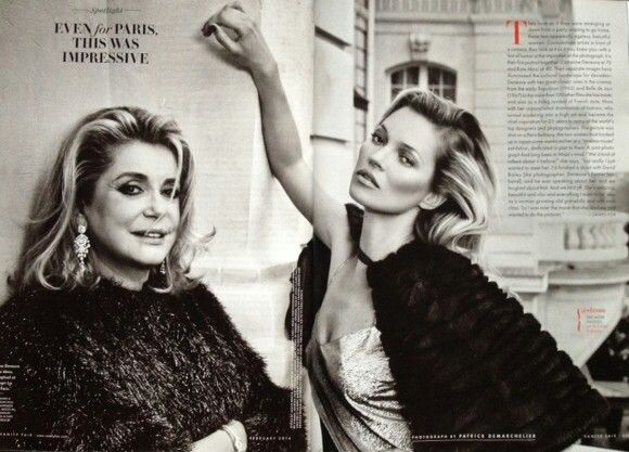 Catherine Deneuve and Kate Moss for Vanity Fair - February 2014