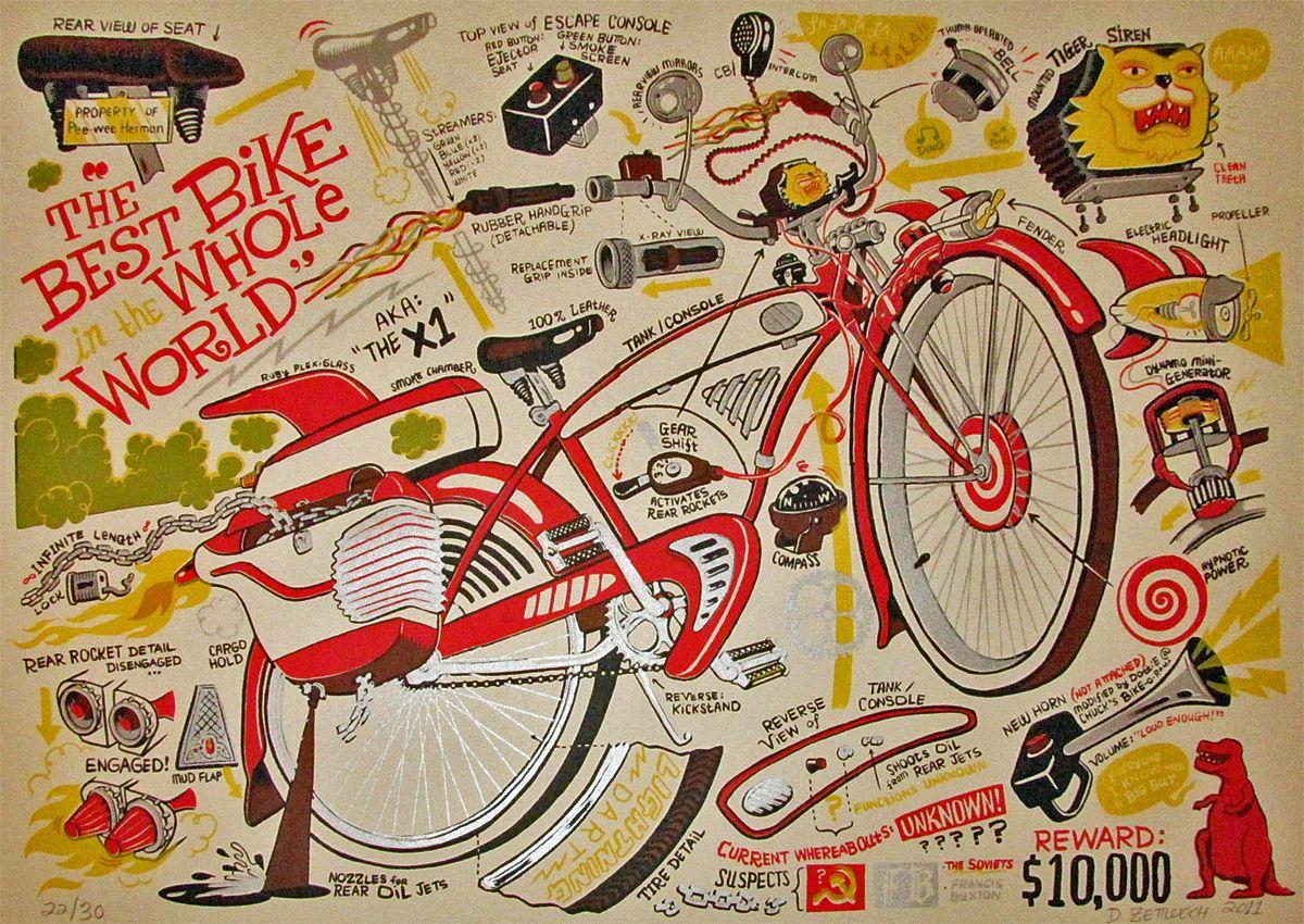 The Best Bike In The Whole World Bike Print Pee Wee Herman