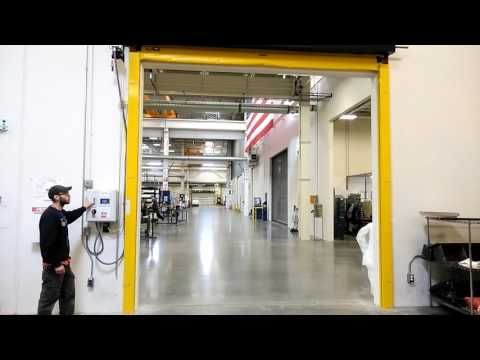 High Speed Fabric Door Installed By Overhead Door Co. Of Bellingham, WA    YouTube