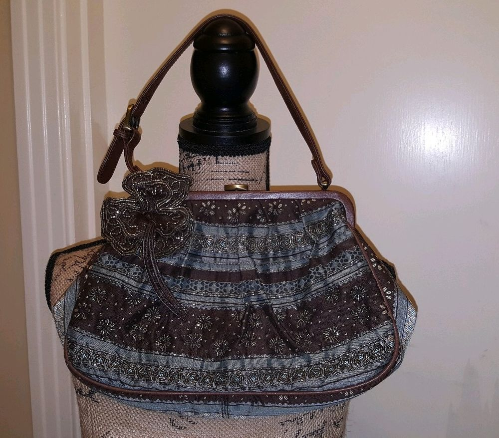 Isabella Fiore Beaded Handbag Clothing Shoes Accessories Women S Handbags Bags Purses Ebay